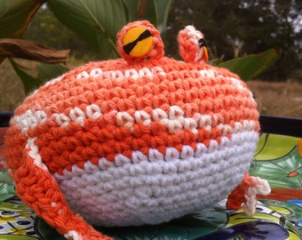 Big Crochet PacMan Frog