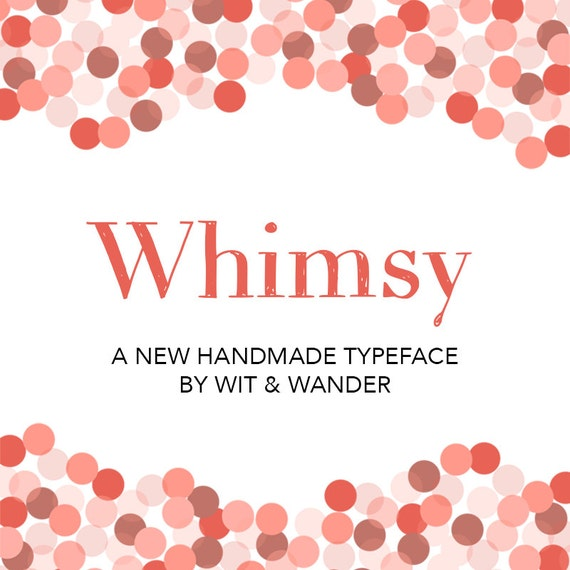 WHIMSY - Hand Drawn Chalkboard Font Commercial Use License