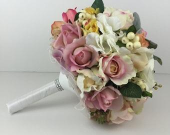 Rose, Hydrangea, Ranuncula Wedding Bouquet