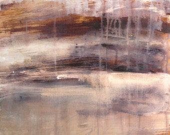 Desert original painting inks and pigments on canvas abstract landscape