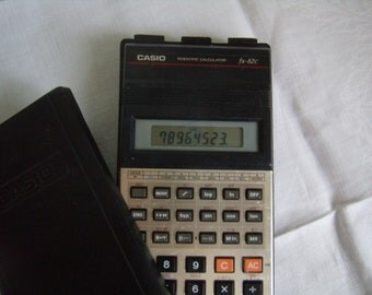 CASIO fx - 82 c, calculator, calculator pocket calculator vintage calculator collection, 1980's, Made in Japan