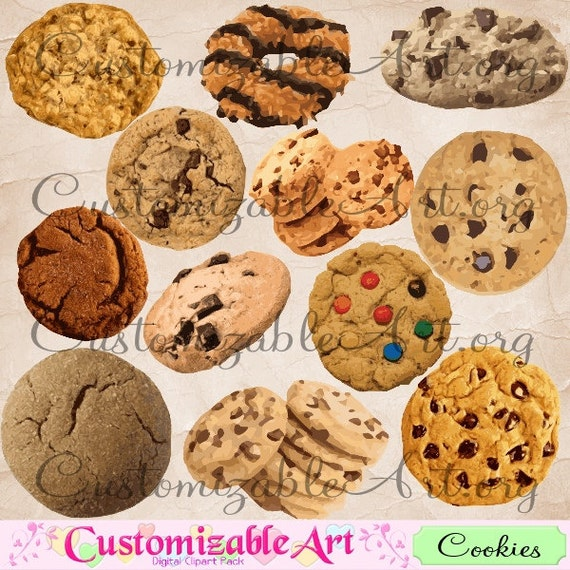 Cookies Clipart Digital Cookie Clip Art Sweets Desserts