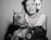 African American Jazz Great! Billie Holiday Vintage Photo Reprint.   Free Shipping in US only.  Choose size  4 x 6 or 8 x 10