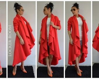 Asymmetric Coat, Extravagant Coat, Winter Loose Coat, Maxi Loose Coat, Plus Size Maxi Coat, Winter Long Coat, Cashmere Coat