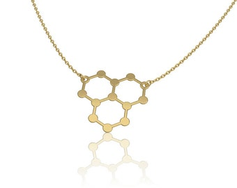 molecule necklace Ice hydro science jewelry chemistry necklace -unique necklace water molecule h2o molecule