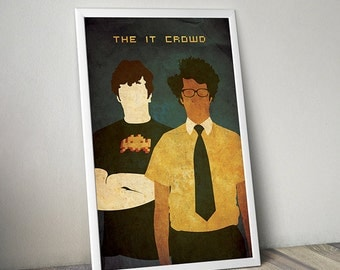 The IT Crowd poster alternative film poster tv poster Roy Moss England poster Computer poster