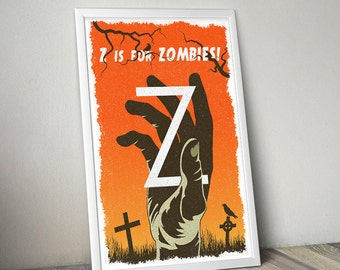 Zombie poster alternative zombie movie poster TWD poster The Walking Dead poster tv series poster Dawn of the Dead poster John Carpenter