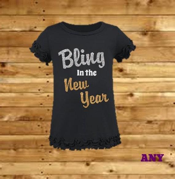 Girls New Years Shirt - Bling in the New Year Shirt