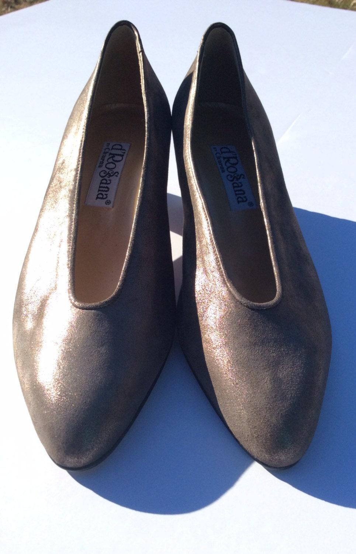 vintage gold metallic soft shoe 7m metallic bronze dress shoe