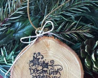 Dream Wood Slice Ornament