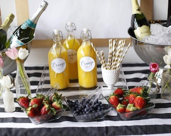 """PRINTABLE """"More Mimosas Please"""" 8x10 Party Sign & Custom Juice Tags!"""