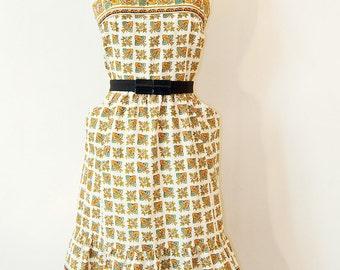 80s Provence print dress
