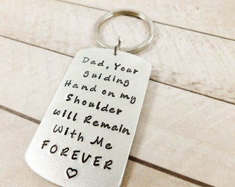 gifts for dad,special gift for Dad, Hand Stamped keychain