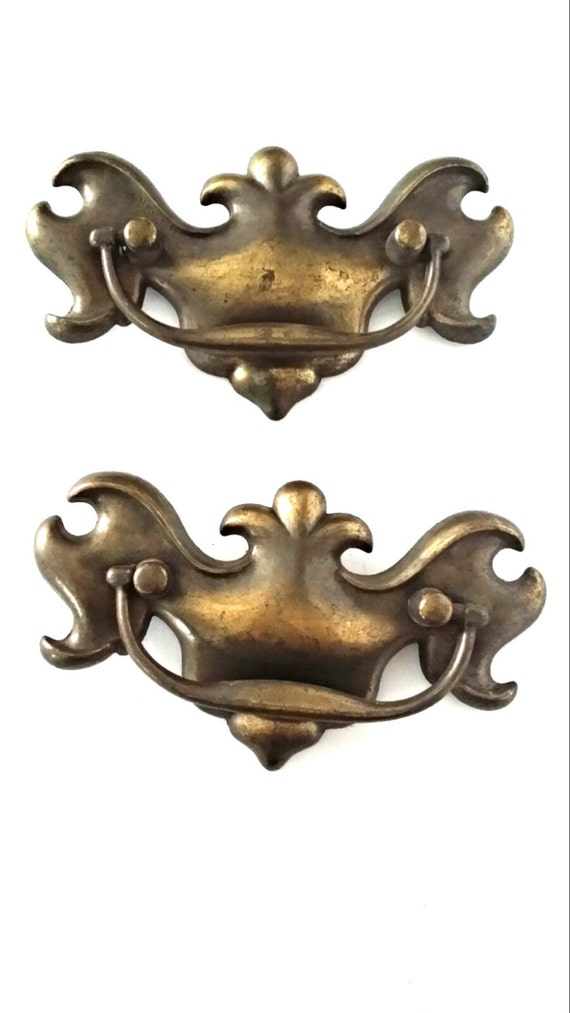 Vintage Hardware Furniture Handles Brass By Sandypawsdogtreats