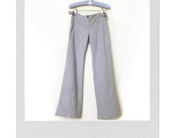 Vintage Womens Denim Flared Pants - Size 28x30 / Medium