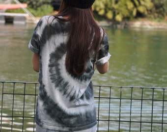 Black & White Tie Dye TShirt