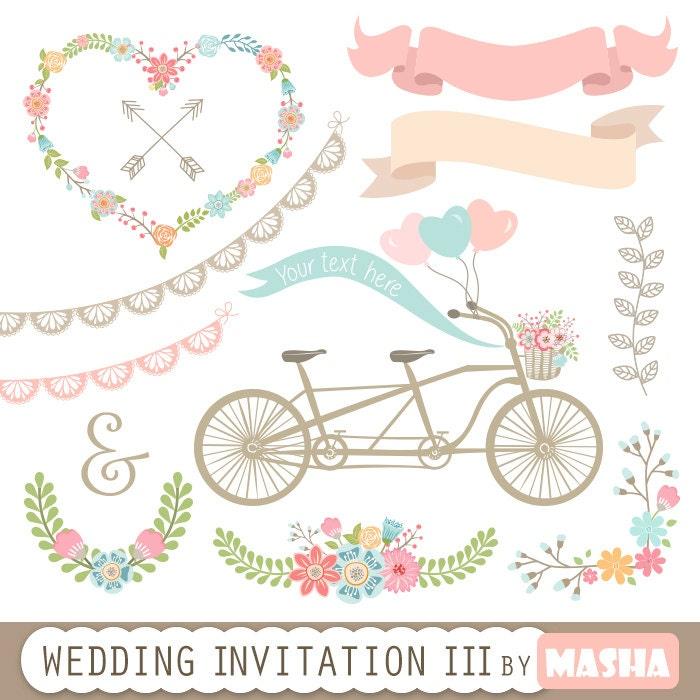 Wedding Gift Clipart : Wedding Invitation Clipart III: WEDDING INVITATION