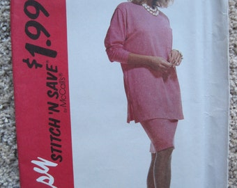 UNCUT Misses' Tunic and Skirt - McCalls Pattern 6485 - Vintage 1993