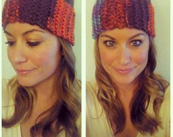 Knit Head Warmer multicolor // Ear Warmer // Headband //Turban (handmade)