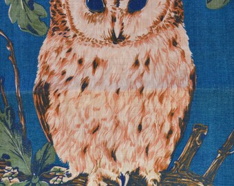 Vintage Ulster OWL Irish Linen Kitchen Tea Towel