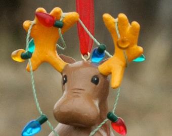 The Lost Moose Company Christmas Moose Ornaments Christmas Lights
