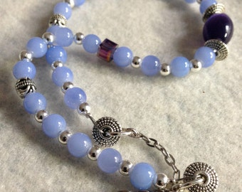 Lavender necklace set beaded necklace gift for women