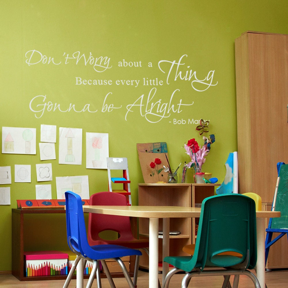 Inspirational Vinyl Quotes Bob Marley Sayings Words Vinyl Wall Decal ...
