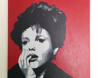 Judy Garland Acrylic Painting