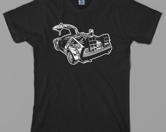 Back to the Future T Shirt  -  delorean, marty mcfly, gigawatts, 1.21, hover board, 80s film - Graphic Tee, All Sizes & Colors