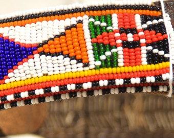 Belt Maasai Masai authentic tribal Kenya African charity fair trade handmade bright colourful beaded bead
