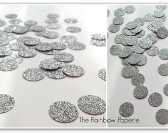 Silver Glitter Table Confetti, Winter Wedding