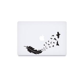 Birds Feather-----Macbook Decal Macbook Sticker Mac Decal Mac Sticker Decal for Apple Laptop Macbook Pro