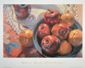 Apples and Oranges - Art Print / Still Life Art Print / Reproduction from ArtistsHoliday Original Art