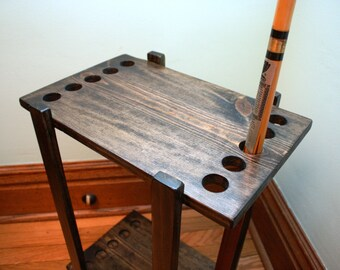 Handmade Pool Cue Table Stand