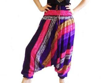 Colorful Stripes Harem Pants Wide Leg Pants (HA01-1)