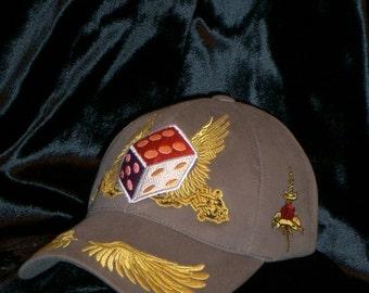Dice of Zeus Baseball Cap Khaki Men Hat Embroidery Rebel Glam Rock