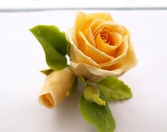 Flower Hair Clip, Rose Barrette, Rose Clip, Flower Barrette, Floral Hair Pieces, Floral Jewellery