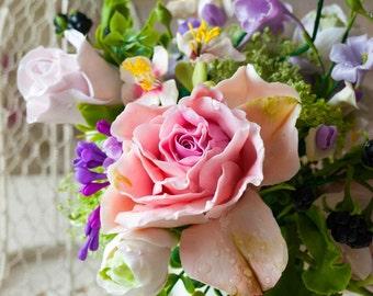 flower arrangement - bouquet of artificial flowers, arranging, fake flower