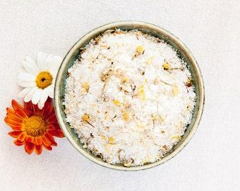 Chamomile Bath Salts / /  All Natural Vegan Ingredients  / / Relax & Unwind Luxury Body Spa