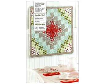 FREE SHIPPING! Peppermint Frenzy Quilt Pattern by BasicGrey