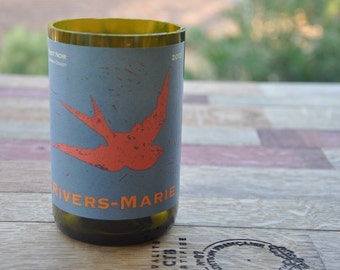 Rivers-Marie Pinot Noir Recycled/Upcycled Wine Bottle Soy Candle