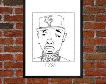 Badly Drawn Tyga - Hip Hop Poster - *** BUY 4, GET A 5th FREE***