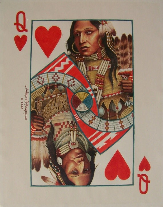 Face Cards Hearts Face Card Queen of Heart