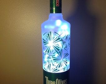 Three Olives Dude Vodka Lighted Bottle