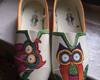 Funky Owl Canvas Shoes