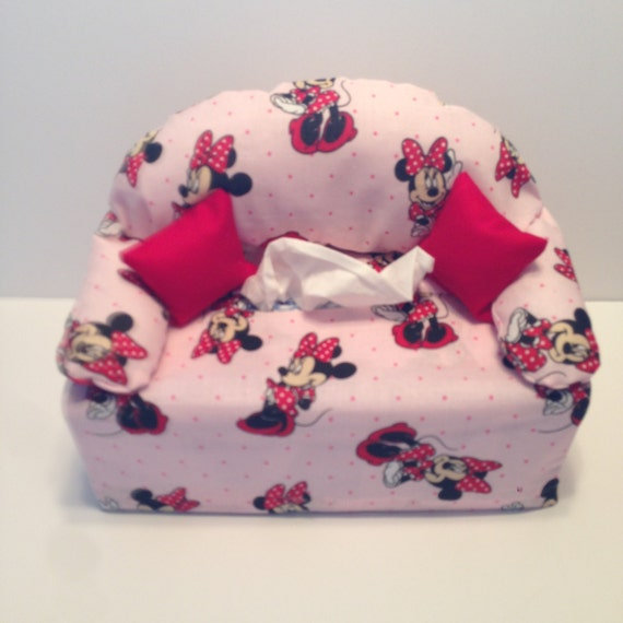Sofa Couch Tissue Box Cover Minnie Mouse By CraftsByJanetMarie