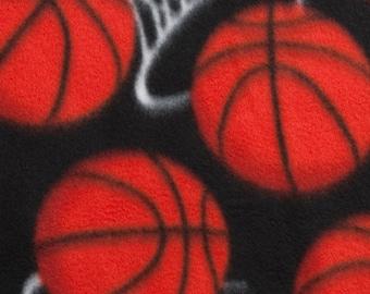 Basketball Hoops Fleece Blanket - No Sew Tie Quilt