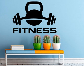 Fitness Wall Decal Gym Wall Stickers Sports Interior Bedroom Home Decor Dorm Room Wall Art Murals (10f01s)