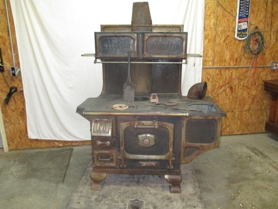 Majestic Cast Iron Cook Stove Wood Burning Coal Vintage - Majestic Wood Stove WB Designs
