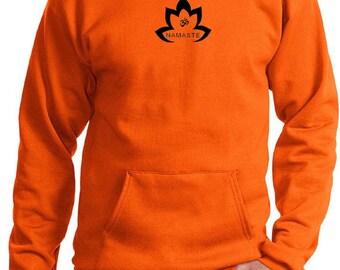 Yoga Clothing For You Men's Hoody Black Namaste Lotus Hoodie - PC90H-BNLOTUS